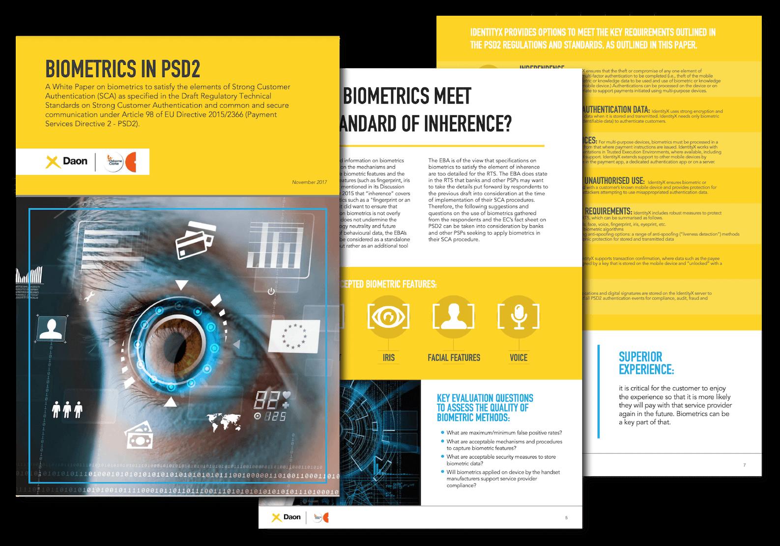 White Paper: Biometrics in PSD2